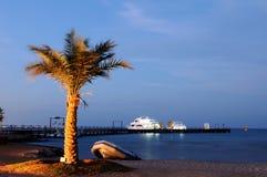Вечер на Красном Море. Стоковое Фото