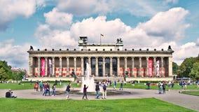 Вечер на музее Altes, Берлине стоковое изображение