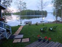 Вечер на озере Стоковое Изображение RF