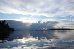 Вечер на озере Стоковое фото RF