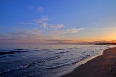 Вечер на побережье Испании 1 Стоковое Изображение