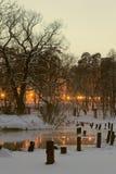 Вечер на реке стоковые изображения