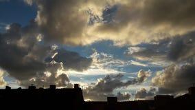 Вечер на старом городе Klaipeda Стоковое Фото