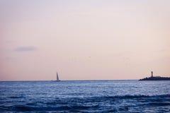 Вечер на seashore Стоковые Изображения