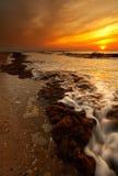 вечер пляжа Стоковая Фотография RF