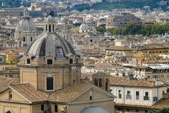 Вечер Рим от высоты Стоковое Изображение RF