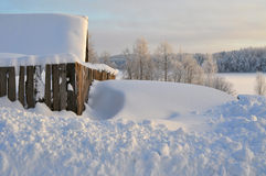 Вечер снега зимы Стоковая Фотография RF