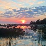 Вечер Солнце Стоковые Изображения RF