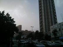 Вечер Тель-Авив Ramat Gan Стоковая Фотография