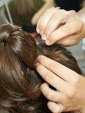 вечер coiffure делая женщину Стоковое фото RF