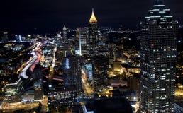 Вечер Comute, Атлант Грузия стоковое фото