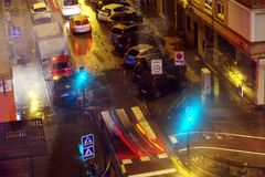 Вечер ithe движения и скорости Гранады 4 стоковые изображения rf