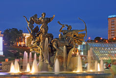 вечер kiev города Стоковое фото RF