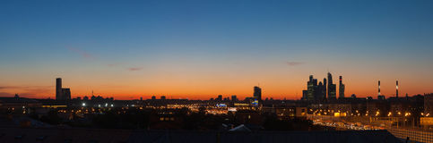 вечер moscow Стоковая Фотография