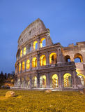 вечер rome colosseum Стоковая Фотография