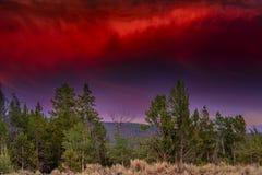 Вечер Stromy в Tetons стоковое фото rf