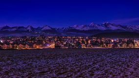 Вечер Tatras от Strba Стоковые Фото
