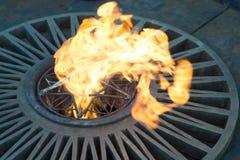 Вечное оранжевое пламя стоковая фотография rf