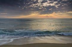 Вечность на болгарском песочном береге стоковая фотография rf