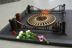 Вечный военный мемориал пламени в Yaroslavl, России Стоковое Изображение RF