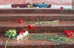 Вечный военный мемориал пламени. Стоковое фото RF