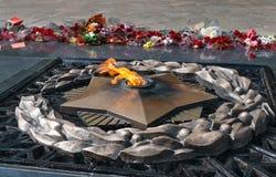 Вечный огонь на мемориале Стоковые Изображения RF