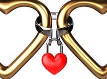вечный padlock рамки Стоковое Изображение RF