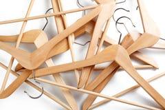 вешалка деревянная Стоковая Фотография RF