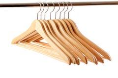 вешалка деревянная Стоковое Изображение RF