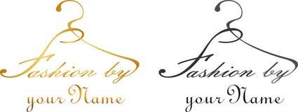 Вешалка с модой слов логотипом дела моды Стоковое Изображение