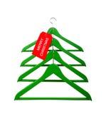 Вешалки одежд в форме рождественской елки Стоковое Изображение
