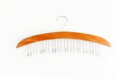 Вешалка специальной формы для поясов, шарфов, шарфов, конца-вверх, isola стоковые изображения