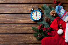 Вещество будильника и рождества Стоковые Изображения