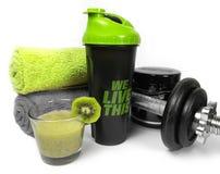 Вещество здоровья и фитнеса с плодоовощами и весами Стоковые Фото