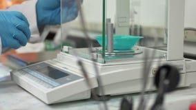 Вещество образца лабораторного исследования химика Стоковая Фотография