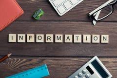 Вещество офиса и связи с общественностью общества идея сказали по буквам с блоком Стоковое Фото