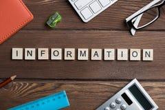 Вещество офиса и связи с общественностью общества идея сказали по буквам с блоками Стоковое Изображение