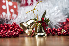 Вещество рождества на деревянной таблице с темной предпосылкой Стоковая Фотография