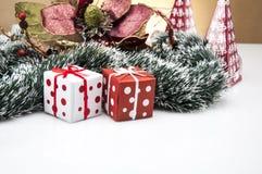 Вещество рождества с светлой предпосылкой Стоковые Фотографии RF