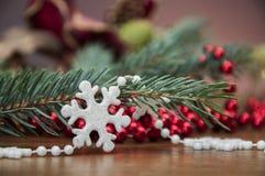 Вещество рождества, украшения зимы Стоковая Фотография RF