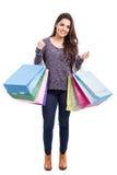 Вещество счастливой девушки покупая Стоковые Фото