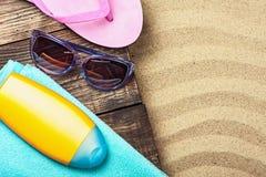 Вещи на праздник пляжа Стоковое Изображение