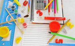 вещи школы Стоковое Фото