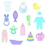 Вещи для младенца Стоковые Фотографии RF