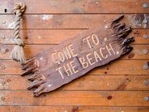 Веденный к пляжу Стоковые Изображения RF