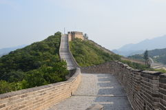 Великая Китайская Стена башен предохранителя Китая Стоковые Изображения