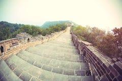 Великая Китайская Стена в Китае Стоковые Фотографии RF