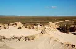 Великая китайская стена в национальном парке Mungo, Австралии Стоковые Фотографии RF