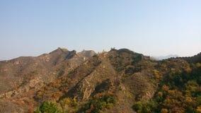 Великая Китайская Стена и гора Стоковая Фотография