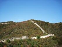 Великая Китайская Стена Китая в осени Стоковые Изображения